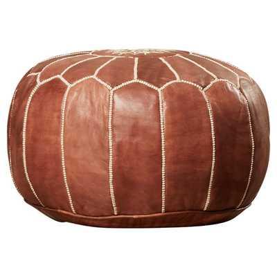 Mouassine Pouf Leather Ottoman - AllModern