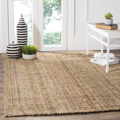 Safavieh Casual Natural Fiber Hand-Woven Natural Accents Chunky Thick Jute Rug (4' x 6') - Overstock