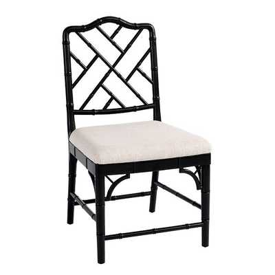 Set of 2 Dayna Side Chairs - Worn Black - Ballard Designs