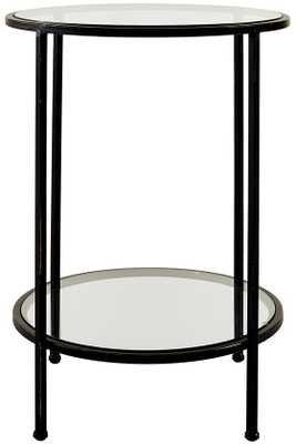 Bella Glass End Table - Home Depot