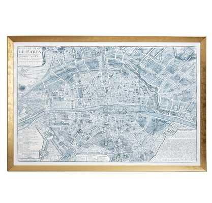 Blue Paris Map - Caitlin Wilson
