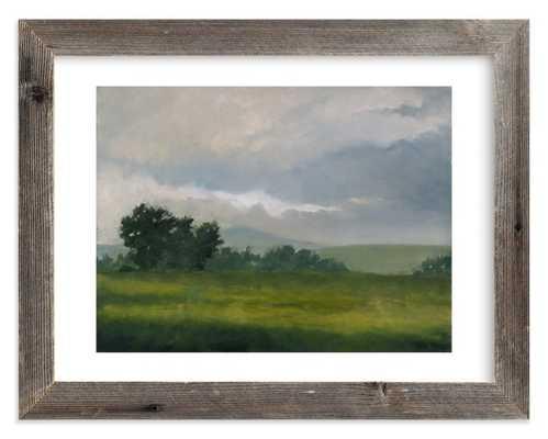 "Broken Clouds -  18"" X 24"" - Reclaimed Barnwood Frame - White Border - Minted"
