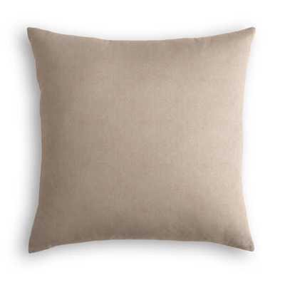 Classic Velvet - Taupe Pillow - Loom Decor