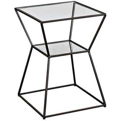 Uttermost Auryon Mirror Accent Table black - Lamps Plus