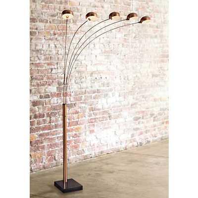 Lite Source Multi-Lite 5-Light Copper Bronze Arc Floor Lamp black - Lamps Plus