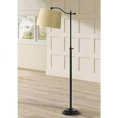 Dark Bronze Finish Adjustable Downbridge Floor Lamp - Lamps Plus