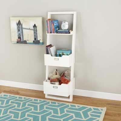 Little Sloane Leaning Bookcase ( white - Land of Nod
