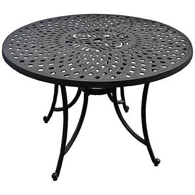 Sedona Charcoal Black Round Outdoor Dining Table - Lamps Plus