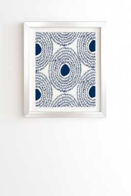 CIRCLES IN BLUE II Framed Wall Art By Camilla Foss - Wander Print Co.