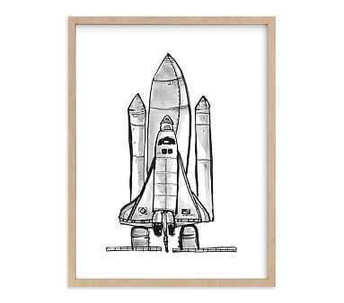 Blast Off Wall Art By Minted(R),18x24, Natural - Pottery Barn Kids