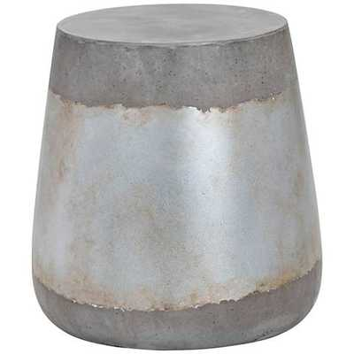 Aries Silver Concrete Indoor-Outdoor Side Table - Lamps Plus