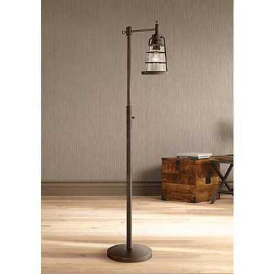 Averill Park Industrial Downbridge Bronze Floor Lamp - Lamps Plus