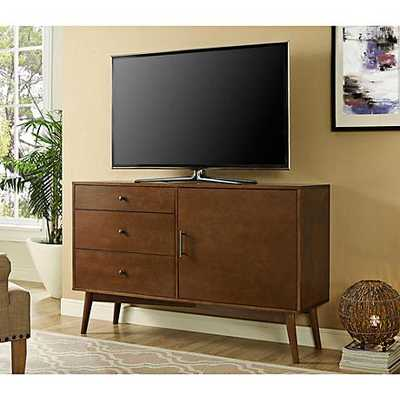 "angelo:HOME Cruise 52"" Mid-Century Walnut 3-Drawer TV Console - Lamps Plus"