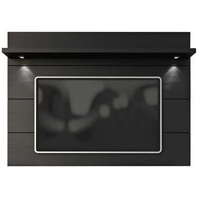 Cabrini 1.8 Black Matte Wood Floating Wall TV Panel - Lamps Plus
