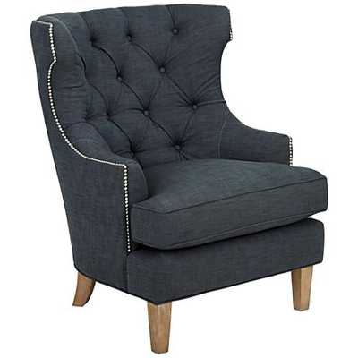 Reese Studio Indigo High-Back Accent Chair - Lamps Plus