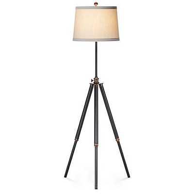 Tripod Antique Bronze Floor Lamp beige - Lamps Plus