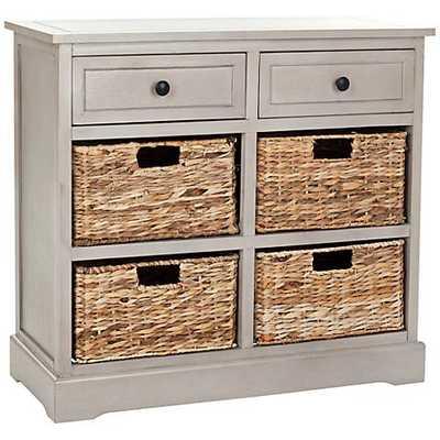 Reynolds Gray 2-Drawer Wood Storage Unit - Lamps Plus