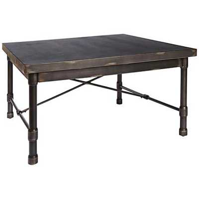 Oxford Industrial Dark Bronze Metal Square Coffee Table - Lamps Plus