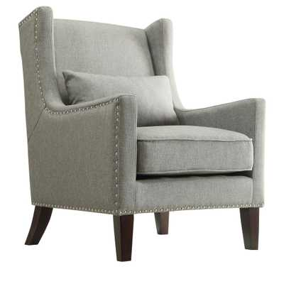 Ashley Slate Linen Wing Back Arm Chair - Home Depot