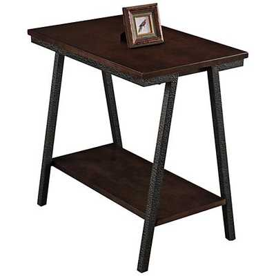 Leick Empiria Hand-Finished Walnut Narrow Chairside Table - Lamps Plus