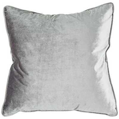 "Tessa Ash Velvet 18"" Square Decorative Pillow - Lamps Plus"