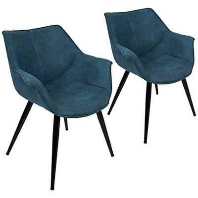 Wrangler and Metal Accent Chair Set of blue, 2 - Lamps Plus