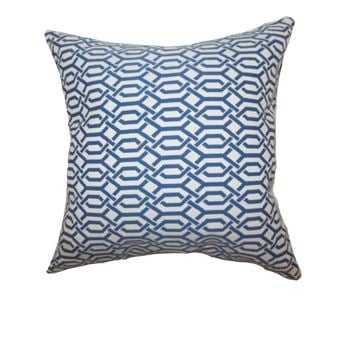 Catriona Geometric Pillow Blue - Linen & Seam