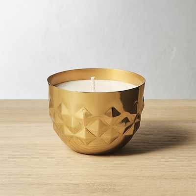 jasmine and tonka bean soy candle - CB2