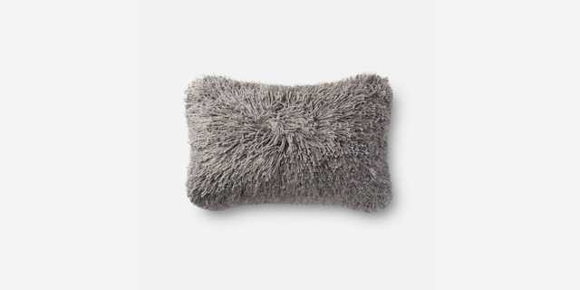 P0470 GREY LUMBAR PILLOW, WITH DOWN INSERT - Loma Threads