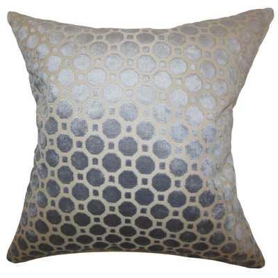 "Kostya Geometric Pillow Grey 26"" x 26""- No Insert - Linen & Seam"
