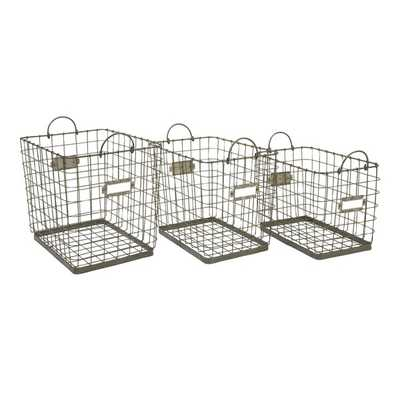 Newbridge Wire Storage Baskets - Mercer Collection