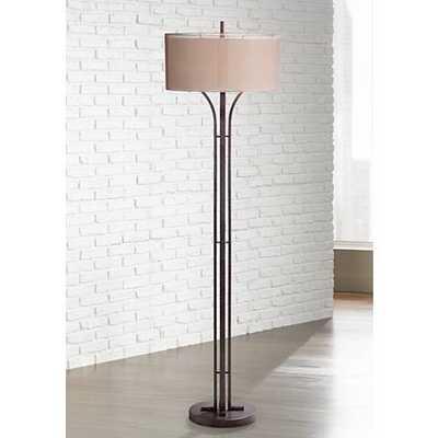 Tristan Modern Bronze Floor Lamp brown - Lamps Plus