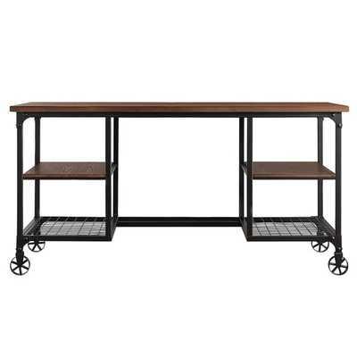 Nelson Industrial Modern Rustic Storage Desk - Overstock
