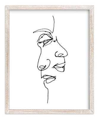 Point of view - 16x20' - Whitewashed Herringbone Frame - White Border - Minted