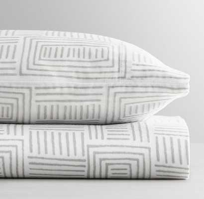 MALI PRINT ULTRA-FINE ORGANIC COTTON LINES CRIB FITTED SHEET - RH Baby & Child