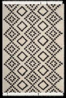 Safavieh Morrocan Fringe Shag Cream/ Grey Area Rug (5' 1 X 7' 6) - Overstock