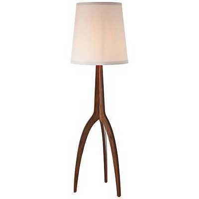 Arteriors Home Linden Tripod Wood Floor Lamp white - Lamps Plus