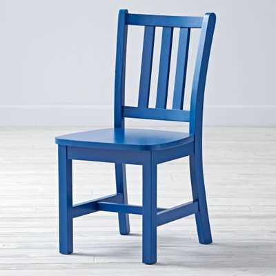 Parker Cobalt Kids Chair - Land of Nod