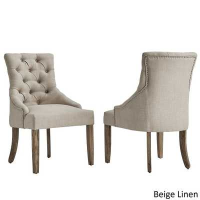 Benchwright Button Tufts Wingback Hostess Chairs by SIGNAL HILLS (Set of 2) - Overstock
