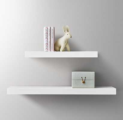 "FLOATING WOOD SHELF - WHITE - 36"" - RH Baby & Child"