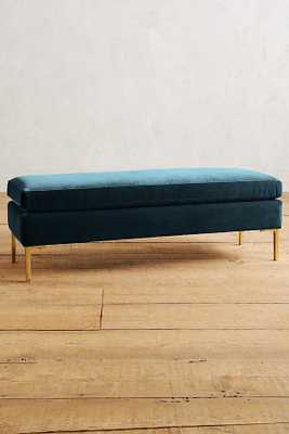 Velvet Edlyn Bench - Marine - Anthropologie