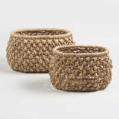 Natural Hyacinth Multiweave Grace Basket - Small - World Market/Cost Plus