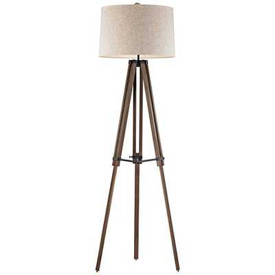Dimond Silvi Wooden Brace Tripod Floor Lamp - Lamps Plus