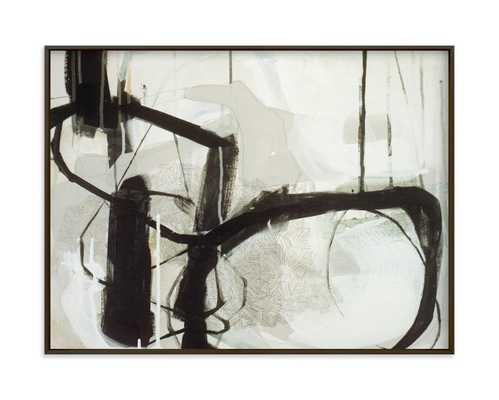"""Abstract Untitled 1 - 24"""" x 18"""" -Matte Black-No Border - Minted"""