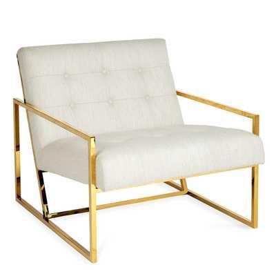 Goldfinger Lounge Chair - Lucerne Oyster - Jonathan Adler