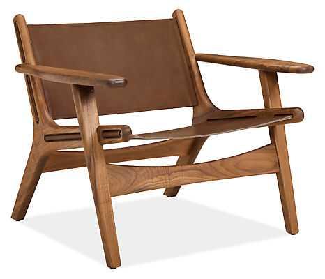 Lars Leather Lounge Chair - Cognac Leather, Walnut Wood - Room & Board