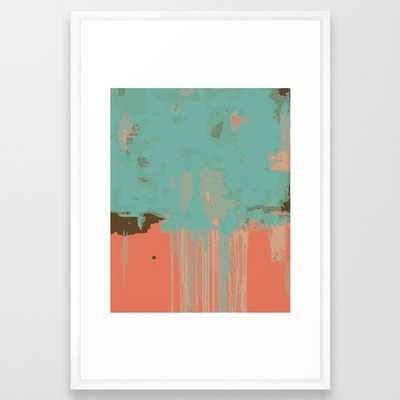 "Infinity Abstract Art Print - pink turqoise w White Vector Frame - 26"" x 38"" - Society6"