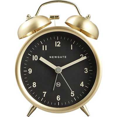 charlie gold alarm clock - CB2