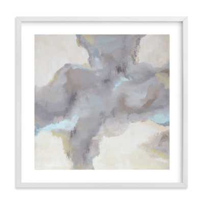 Cloud View - 30'' x 30''- White Frame with mat/ White border - Minted