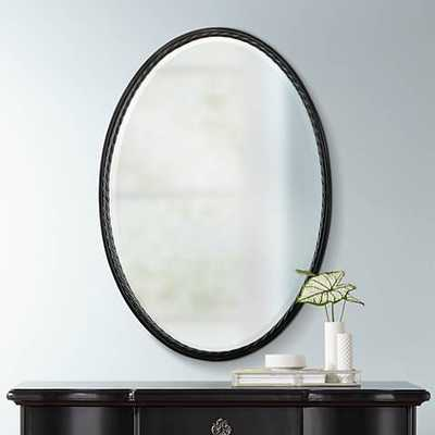 """Uttermost Casalina 32"""" High Oil-Rubbed Bronze Wall Mirror - Lamps Plus"""